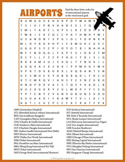 picture regarding Challenging Word Searches Printable titled Airport Phrase Glimpse
