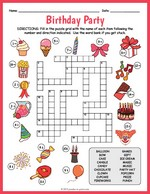 photograph regarding Printable Puzzles for Kids named Printable Crossword Puzzles for Young children