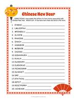 Chinese New Year Word Scramble thumbnail
