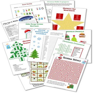 graphic about Free Printable Christmas Puzzles named Printable Xmas Puzzles