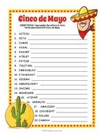 Cinco De Mayo Word Scramble thumbnail