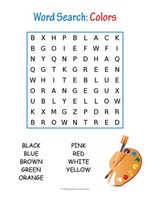 colors word search - Picture Search For Kids