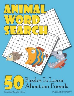 cover animal word search book