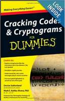 Crackng Codes and Cryptograms for Dummies Book