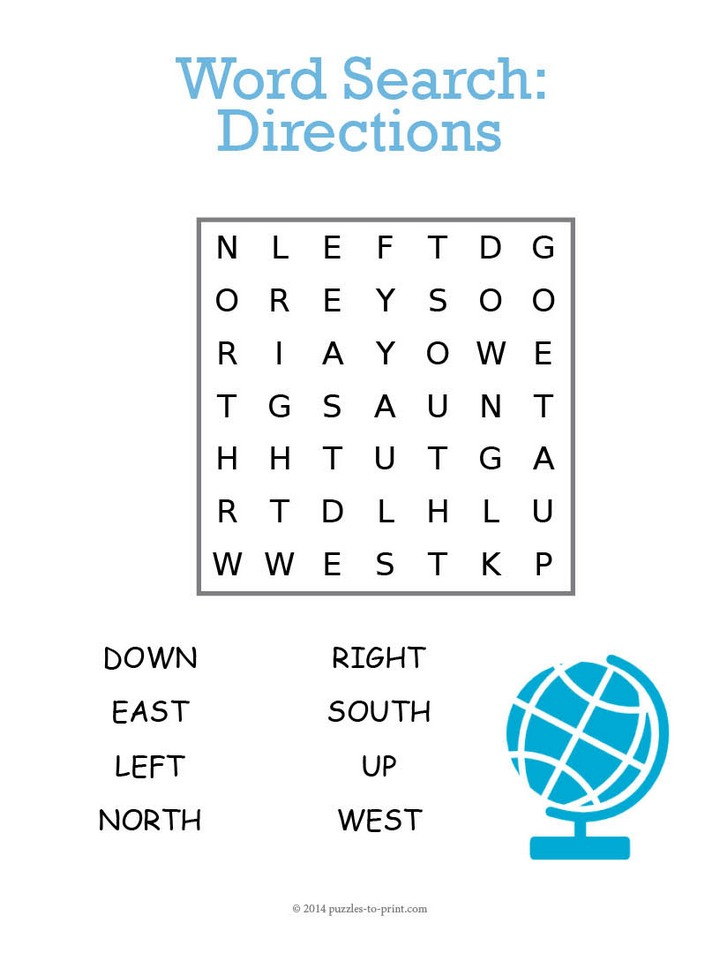 Directions Word Search