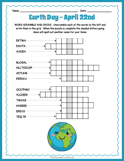 This is an image of Printable Jumble Puzzles intended for middle school