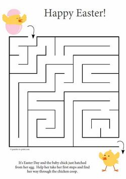 picture regarding Easter Maze Printable referred to as Easter Maze