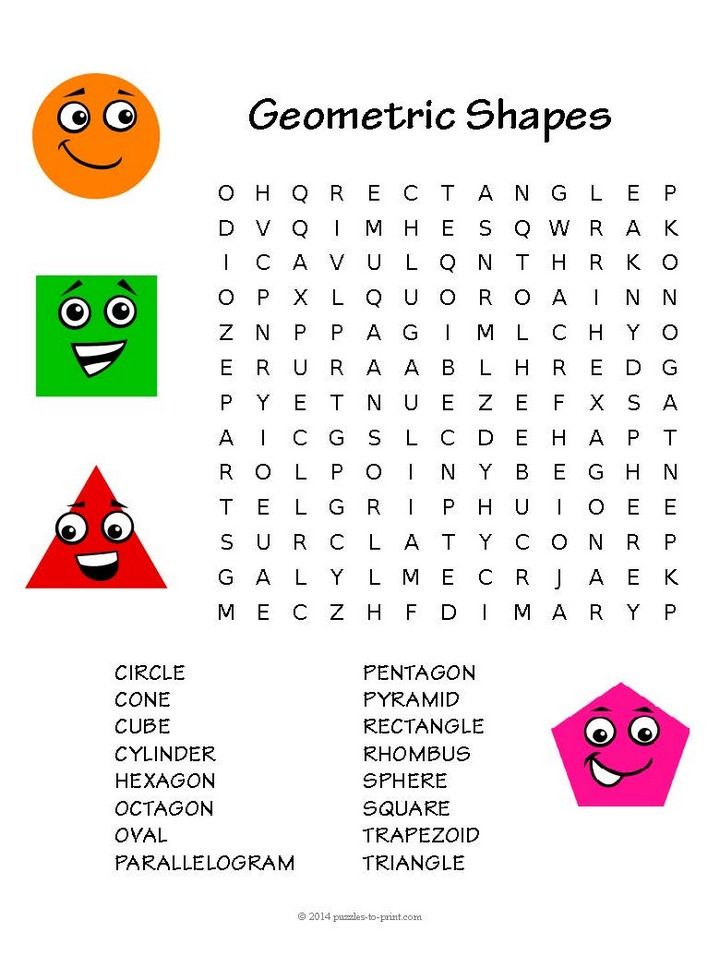 Apple Word Search Puzzle