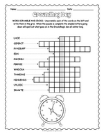 picture about Groundhog Day Word Search Printable identify Term Scrambles - Printable Puzzles