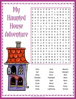 Haunted House Word Search thumbnail