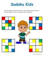 kid sudokus with colors thumbnail