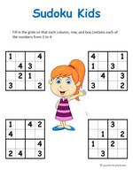 photograph relating to Sudoku for Kids Printable named Sudoku for Children