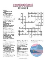 Landforms Crossword thumbnail