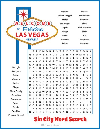 Las Vegas Word Search
