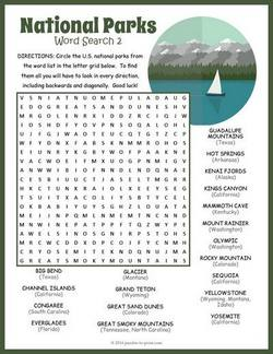 Camping Trip Word Search