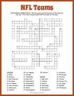 NFL Teams Crossword