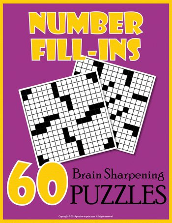 Number fill in puzzle books