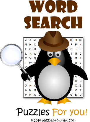 Printable Word Search Puzzles - Free Games