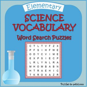 Science Word Search Puzzle Bundle Cover