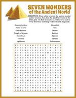 Seven Wonders Word Search