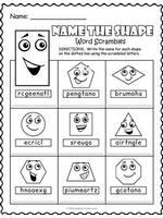 Shapes Word Scramble Worksheet thumbnail
