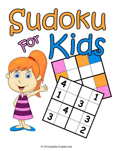Adorable image inside sudoku printable for kids