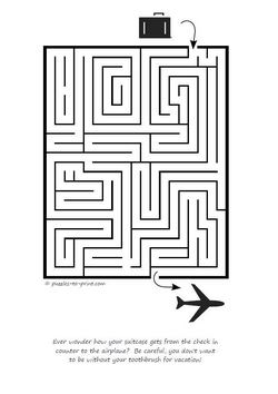 Suitcase To Plane Maze Preview on mazes medium