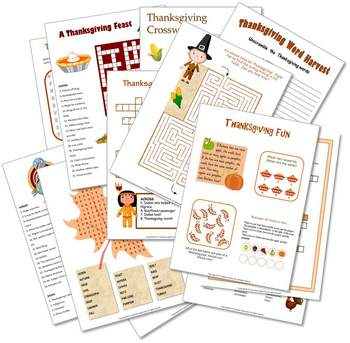 Thanksgiving Puzzle Packet preview