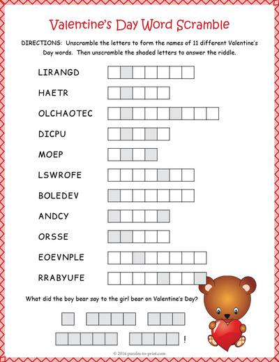 more puzzles for valentine s day valentine s day word search flower ...