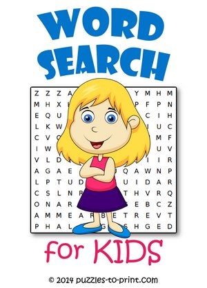 image relating to Free Printable Word Search for Kids known as Phrase Lookups for Little ones