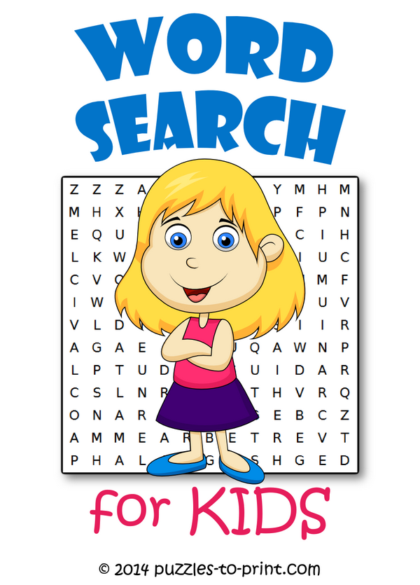 word searches for kids - Fun Pictures For Kids